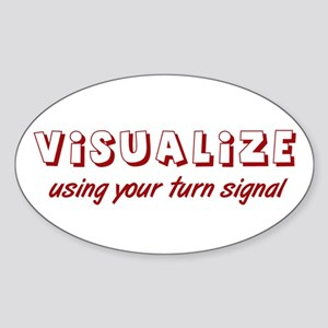Turn Signal Oval Sticker - Red