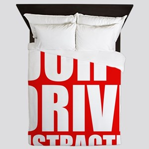 Dont Drive Distracted Queen Duvet
