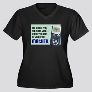 Math You Women's Plus Size V-Neck Dark T-Shirt