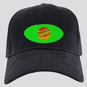 Golf Ball Father's Day Black Cap / Hat (green)