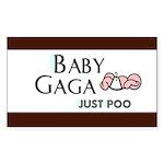Baby Gaga Rectangle Sticker 10 pk)