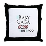 Baby Gaga Throw Pillow