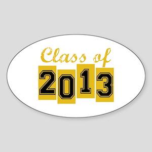 Class of 2013 Oval Sticker