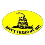 Don't Tread On Me Oval Sticker