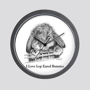 Lop Eared Bunny Wall Clock