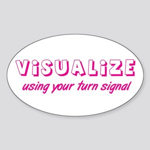 Turn Signal Oval Sticker - Pink