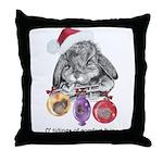 Lop Rabbit Christmas Throw Pillow