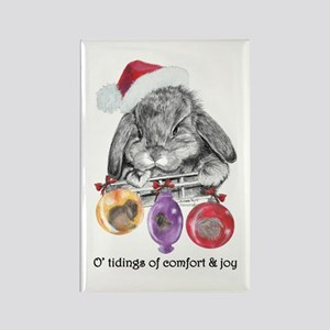 Lop Rabbit Christmas Rectangle Magnet
