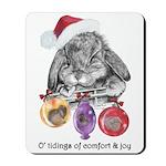 Lop Rabbit Christmas Mousepad
