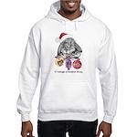 Lop Rabbit Christmas Hooded Sweatshirt