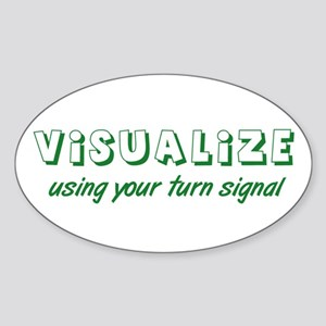 Turn Signal Oval Sticker - Green
