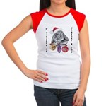 Lop Rabbit Christmas Women's Cap Sleeve T-Shirt
