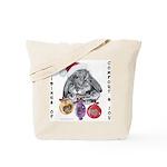 Lop Rabbit Christmas Tote Bag
