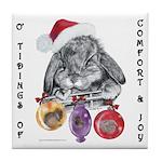 Lop Rabbit Christmas Tile Coaster