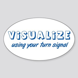 Turn Signal Oval Sticker - Blue