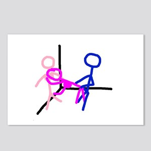 Stick figure 8 Postcards (Package of 8)