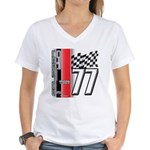 Mustang 1977 Women's V-Neck T-Shirt