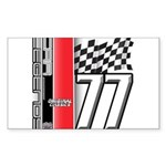 Mustang 1977 Rectangle Sticker 50 pk)