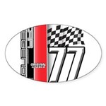 Mustang 1977 Oval Sticker (50 pk)