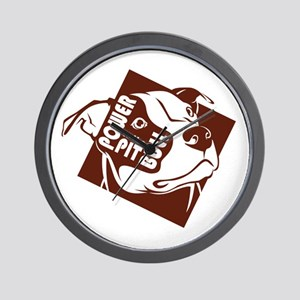 Power to the Pit Bull Wall Clock