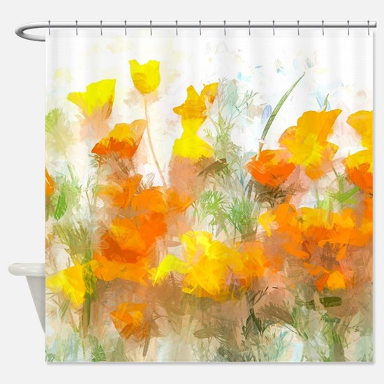 Sunrise Poppies II Shower Curtain