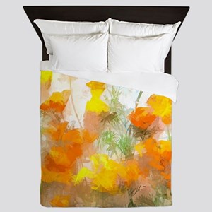 Sunrise Poppies II Queen Duvet