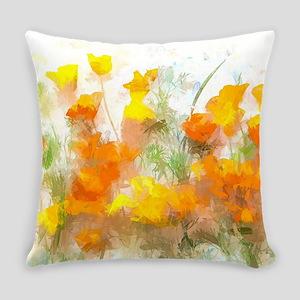 Sunrise Poppies II Everyday Pillow
