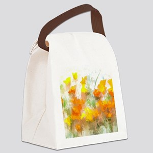 Sunrise Poppies II Canvas Lunch Bag