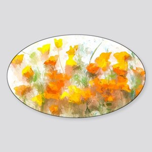 Sunrise Poppies II Sticker