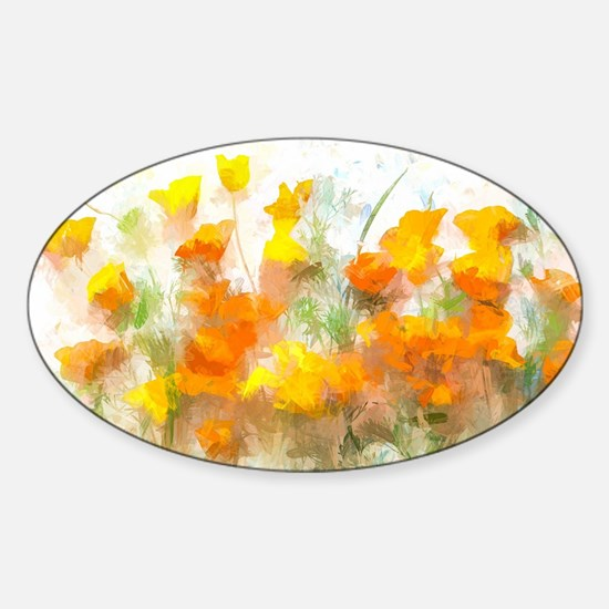 Sunrise Poppies II Decal