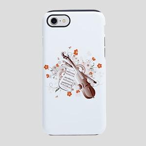 Floral Violin iPhone 7 Tough Case