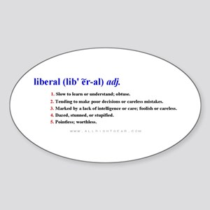 Definition of a Liberal Oval Sticker