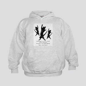 Enthusiastic Cats Kids Hoodie