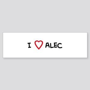 I love Alec Bumper Sticker