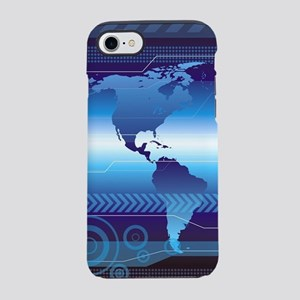 Digital World Map iPhone 7 Tough Case