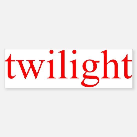 """""""Twilight"""" Bumper Bumper Bumper Sticker"""