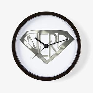 Chrome Super Nerd Wall Clock
