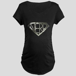Chrome Super Nerd Maternity Dark T-Shirt