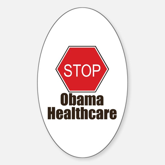 Stop Obama Healthcare Oval Decal