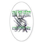 Spray Planes Oval Sticker