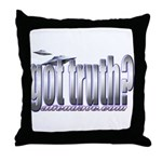 got truth? saucers Throw Pillow