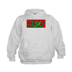Green on Red Dragon Hoodie