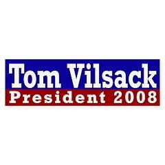 Tom Vilsack 2008 Bumper Bumper Sticker