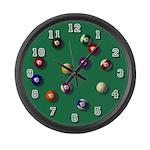 Billiards LARGE Wall Clock