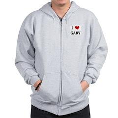 I Love GARY Zip Hoodie
