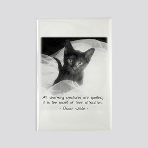 Spoiled Kitten-And-Quote Rectangle Magnet