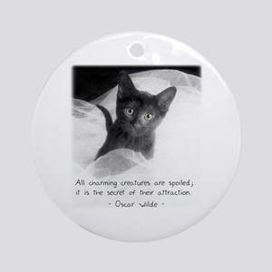 Spoiled Kitten-And-Quote Ornament (Round)