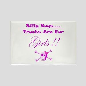 Trucks are for Girls Rectangle Magnet