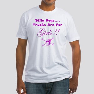 Trucks are for Girls Fitted T-Shirt