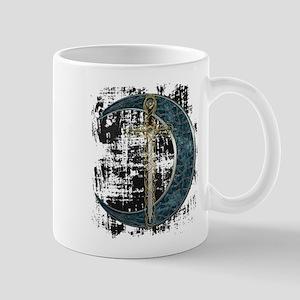 Grunge Celtic Moon and Sword Mug